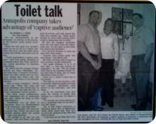 Capital Article about ITA Restroom Advertising